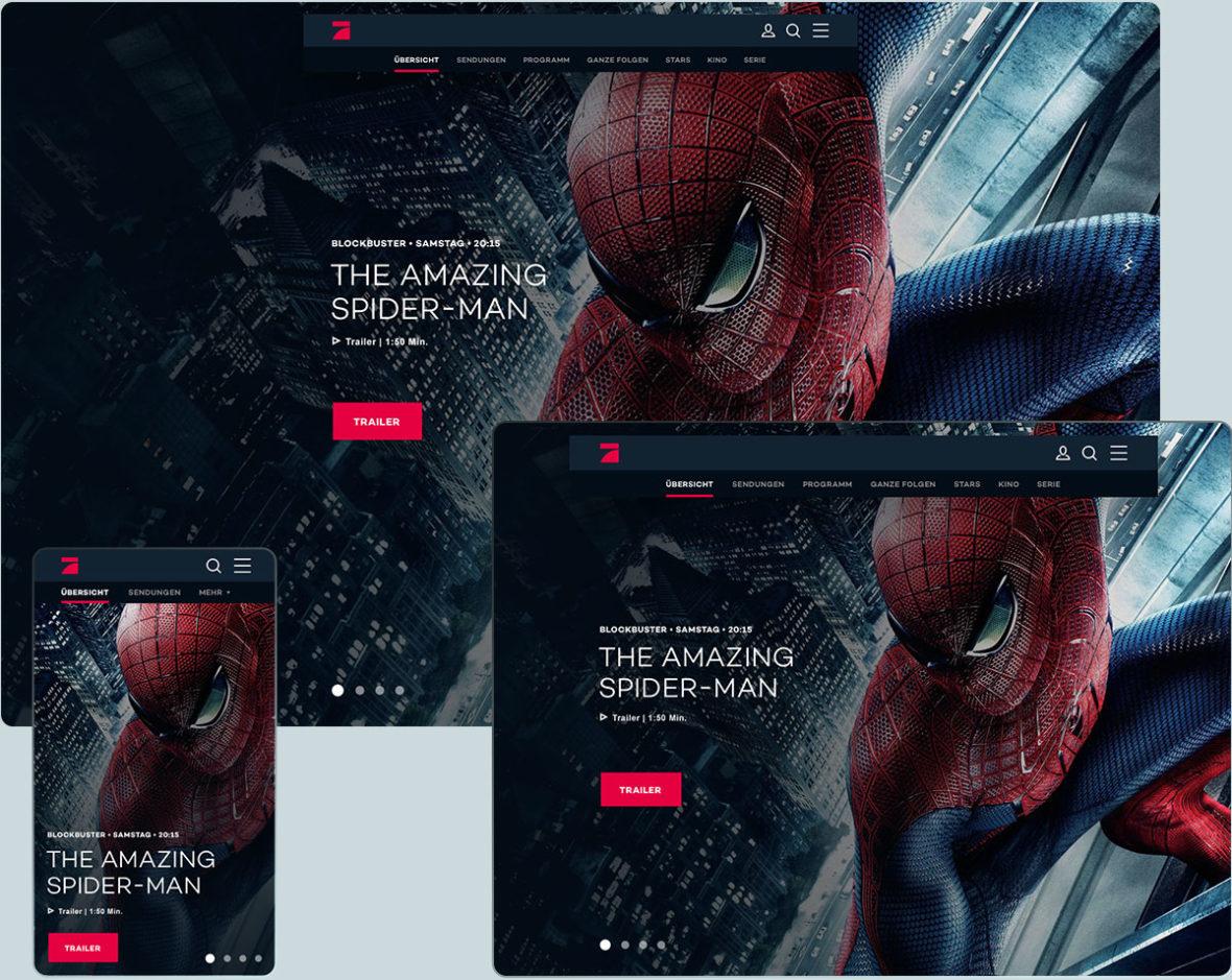 Studio-Christian-Dueckminor-ProSiebenSat1-Senderseiten-Web-Design-Hero